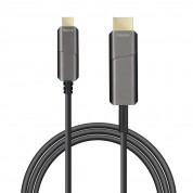 USB Type-C to HDMI AOC, Hybrid 10Gbps 4k60 DP 1.2 Active Optical Cable