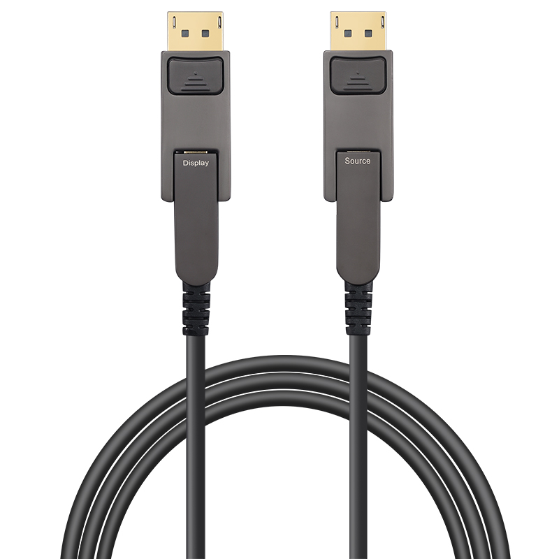Detachable DisplayPort 1.4 AOC, Type D to Type D, Hybrid 32.4Gbps 8K60 DP 1.4 Active Optical Cable