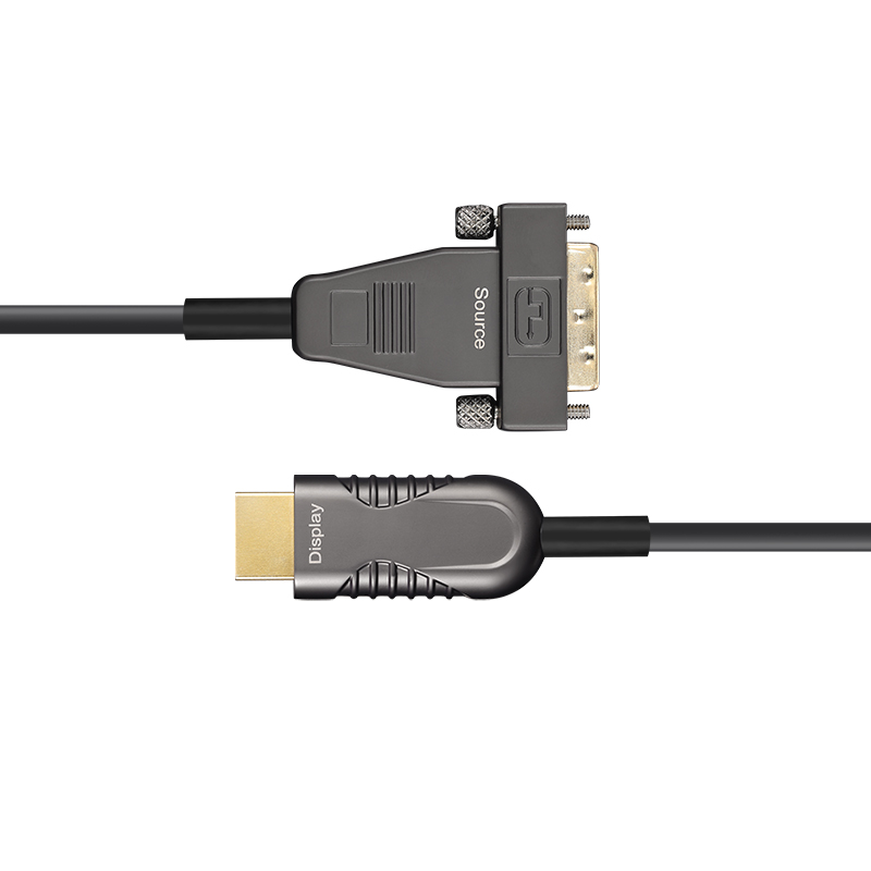 DVI to HDMI AOC, Hybrid 10.2Gbps 4K30 DVI to HDMI Active Optical Cable